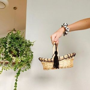 embroidered & woven basket
